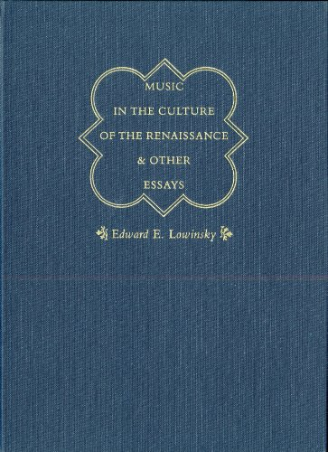 9780226494784: Music in the Culture of the Renaissance and Other Essays
