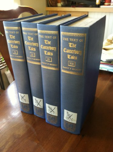 9780226503219: Text of the Canterbury Tales: Studied on the Basis of All Known Manuscripts