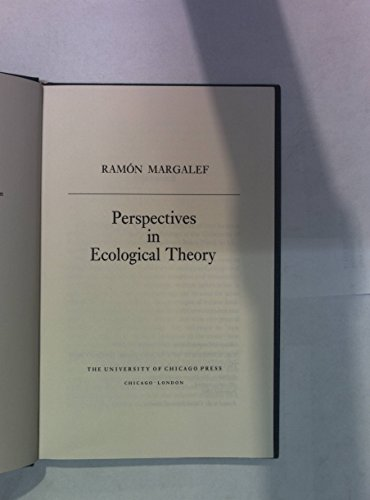 9780226505053: Perspectives in Ecological Theory