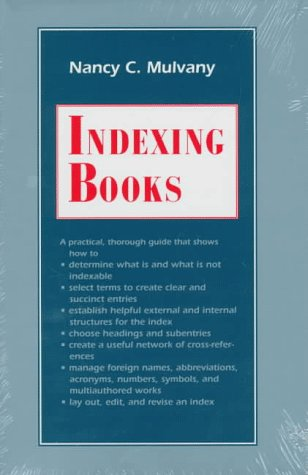 INDEXING BOOKS.: MULVANY, Nancy C.