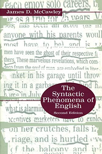 The Syntactic Phenomena of English.: McCawley, James D.