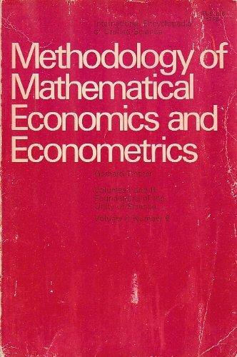 Methodology of Mathematical Economics and Econometrics (International: Gerhard Tintner