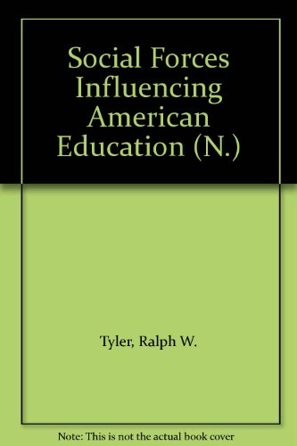 9780226600611: Social Forces Influencing American Education (N.)