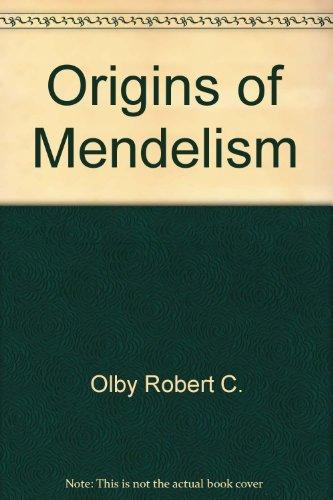 9780226625911: Origins of Mendelism