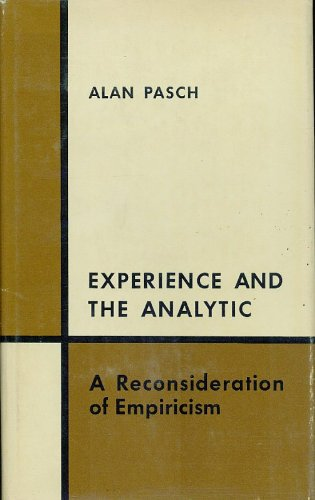 9780226648392: Experience and the Analytic