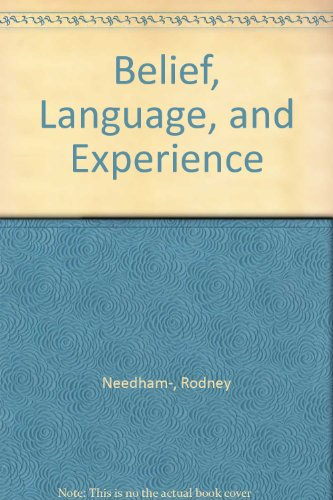 9780226659930: Belief, language, and experience