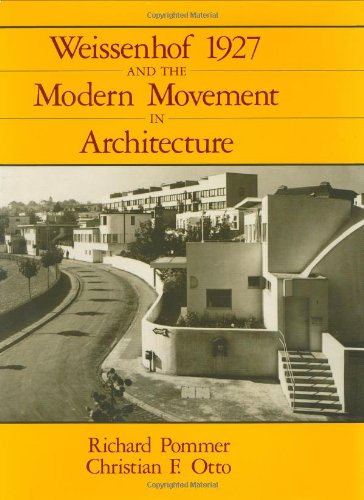 9780226675152: Weissenhof 1927 and the Modern Movement in Architecture