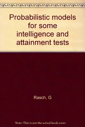 9780226705538: Probabilistic models for some intelligence and attainment tests
