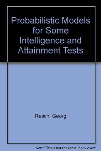 9780226705545: Probabilistic Models for Some Intelligence and Attainment Tests