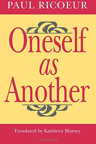 Oneself as Another (0226713296) by Paul Ricoeur