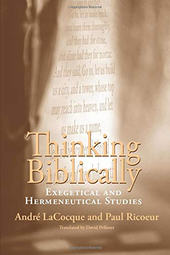 9780226713434: Thinking Biblically: Exegetical and Hermeneutical Studies