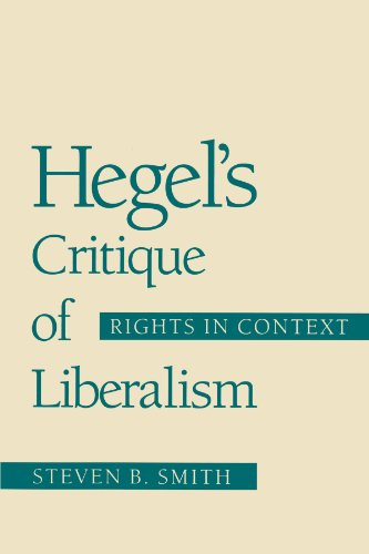 9780226763507: Hegel's Critique of Liberalism: Rights in Context