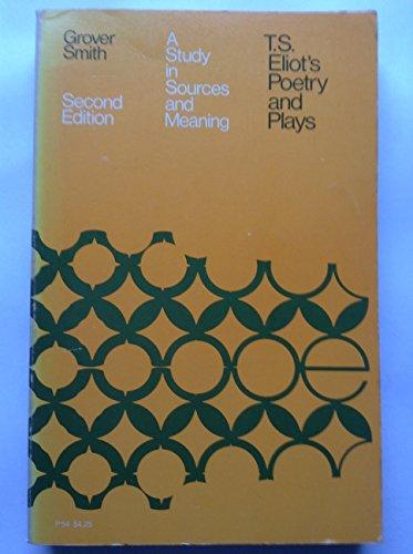 9780226764375: T.S.Eliot's Poetry and Plays (Phoenix Books)