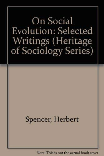 9780226768915: On Social Evolution: Selected Writings (Heritage of Sociology Series)