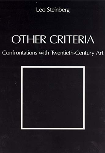 9780226771854: Other Criteria: Confrontations with Twentieth-Century Art