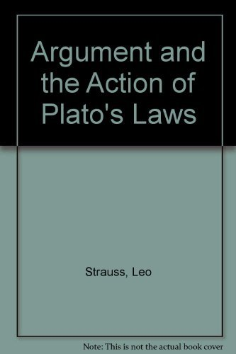 9780226777061: The Argument and the Action of Plato's Laws