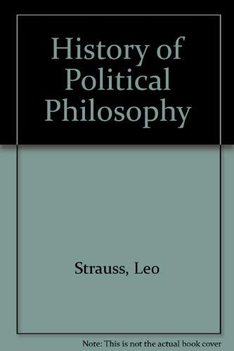 9780226777085: History of Political Philosophy