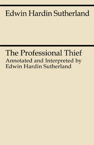 9780226780511: The Professional Thief (Midway Reprint)