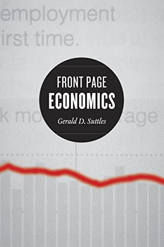Front Page Economics (Hardcover): Gerald D. Suttles