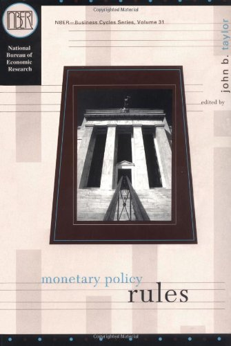 9780226791258: Monetary Policy Rules (National Bureau of Economic Research Studies in Business Cycles)