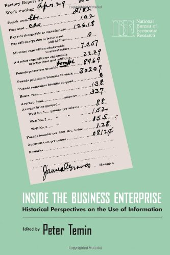 Inside the Business Enterprise: Historical Perspectives on: Temin