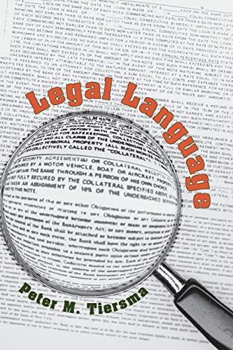 9780226803036: Legal Language