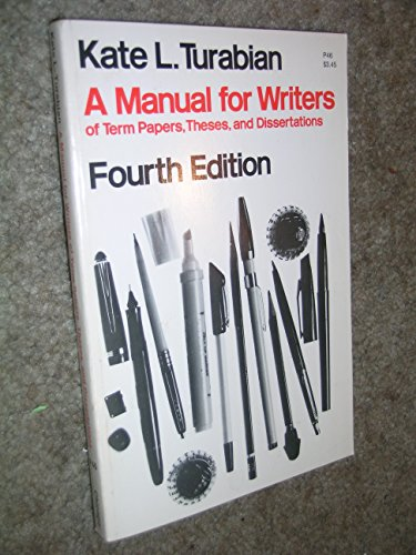 9780226816203: A manual for writers of term papers, theses, and dissertations (Manual for Writers of Term Papers, Theses, & Dissertations)