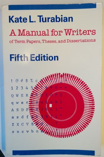 a manual for writers of term papers theses and dissertations A manual for writers of research papers, theses, and dissertations is a style guide for writing and formatting research papers, theses, and dissertations and is published by the university of chicago press.