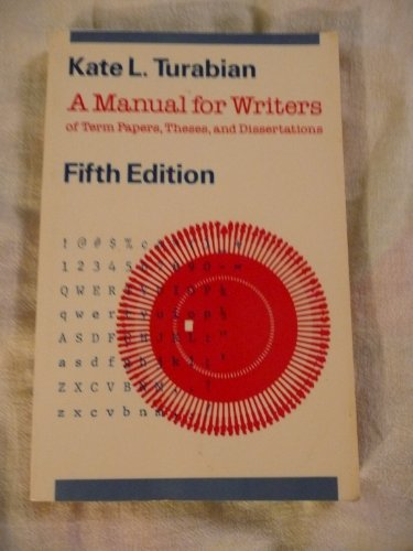 9780226816258: A Manual for Writers of Term Papers, Theses, and Dissertations, Fifth Edition