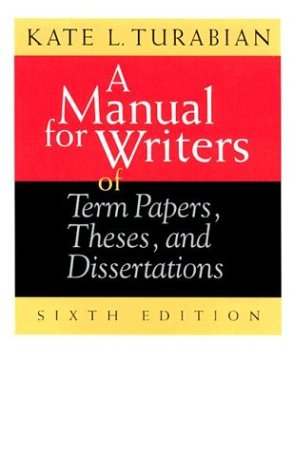 9780226816265: A Manual for Writers of Term Papers, Theses, and Dissertations (Chicago Guides to Writing, Editing, and Publishing)