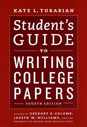 9780226816302: Student's Guide to Writing College Papers: Fourth Edition (Chicago Guides to Writing, Editing, and Publishing)