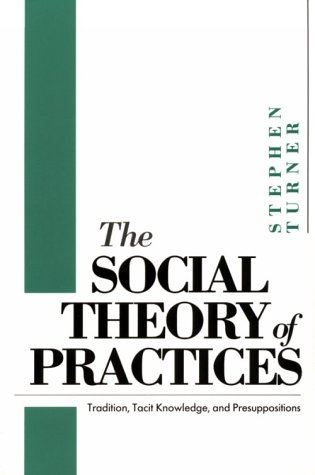 9780226817385: The Social Theory of Practices: Tradition, Tacit Knowledge, and Presuppositions