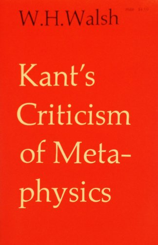 9780226872155: Kant's Criticism of Metaphysics