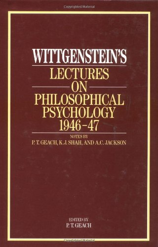 9780226904283: Wittgenstein's Lectures on Philosophical Psychology, 1946-47