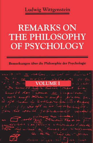 9780226904368: Remarks on the Philosophy of Psychology, Volume 1