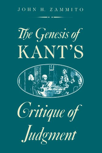 The Genesis of Kant s Critique of: John H. Zammito