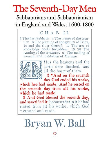 9780227173114: The Seventh-day Men: Sabbatarians and Sabbatarianism in England and Wales, 1600-1800
