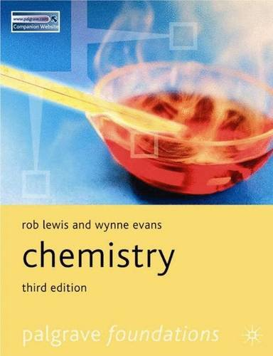 Chemistry (Palgrave Foundations Series): Lewis, Rob &