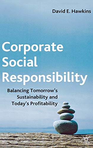 9780230002203: Corporate Social Responsibility: Balancing Tomorrow's Sustainability and Today's Profitability