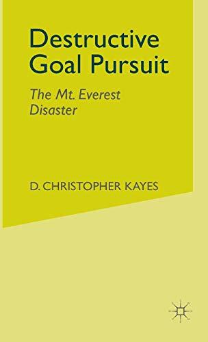 9780230003323: Destructive Goal Pursuit: The Mt. Everest Disaster