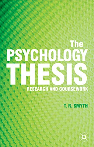 9780230008427: The Psychology Thesis: Research and Coursework