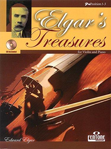 9780230009196: Elgar's Treasures: for Violin and Piano (Fentone Play Along Books)
