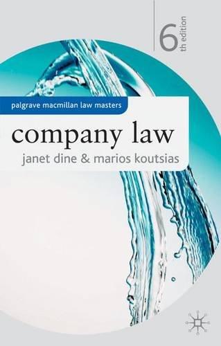 9780230018778: Company Law (Palgrave Macmillan Law Masters)