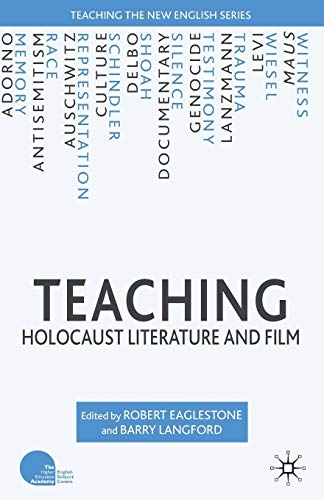 9780230019379: Teaching Holocaust Literature and Film (Teaching the New English)