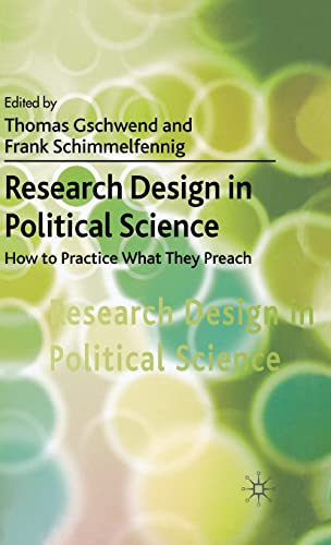 9780230019478: Research Design in Political Science: How to Practice What They Preach