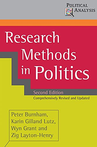 9780230019850: Research Methods in Politics (Political Analysis)