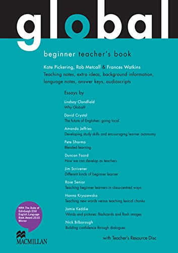9780230032897: Global Beginners Teacher Book + Test CD Pack