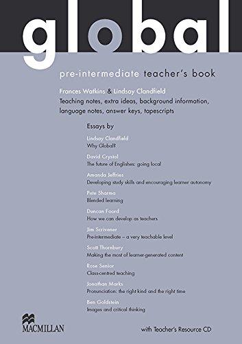 9780230033160: Global Pre-intermediate: Teacher's Book with Test CD