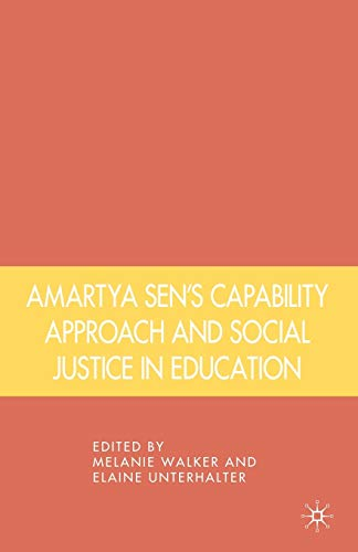 Amartya Sen's capability approach and social justice in education.: Walker, Melanie & Elaine ...