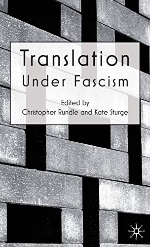 9780230203549: Translation Under Fascism